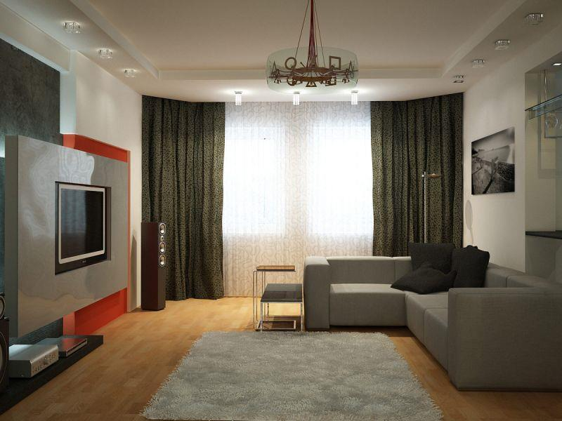 Интерьер зала в квартире дск фото