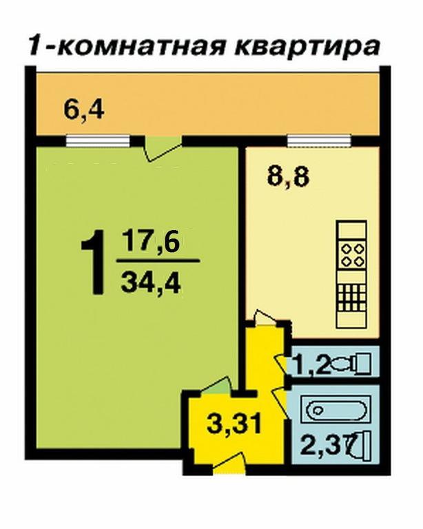 Дом серии и700а лоджия 6 кв. м.