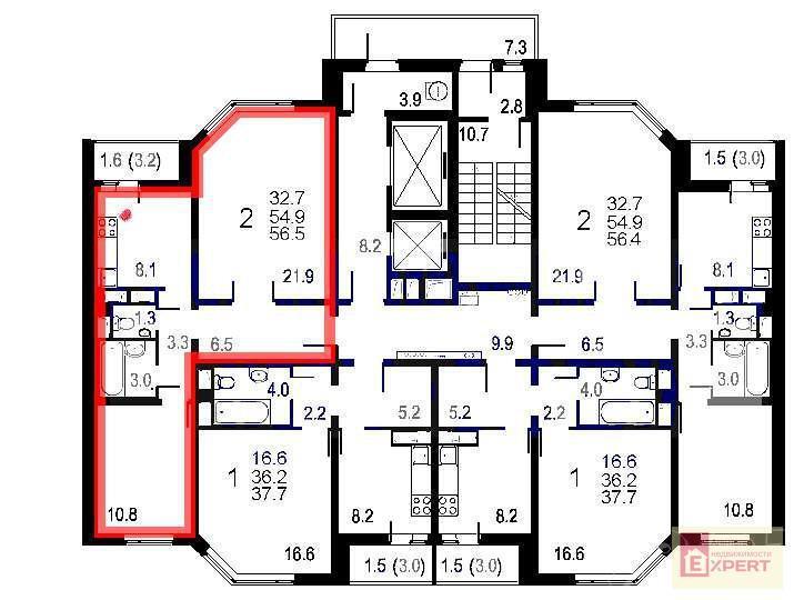 Продажа новостройки, продам 1-к кв. 38м2, мкр. новая трехгор.