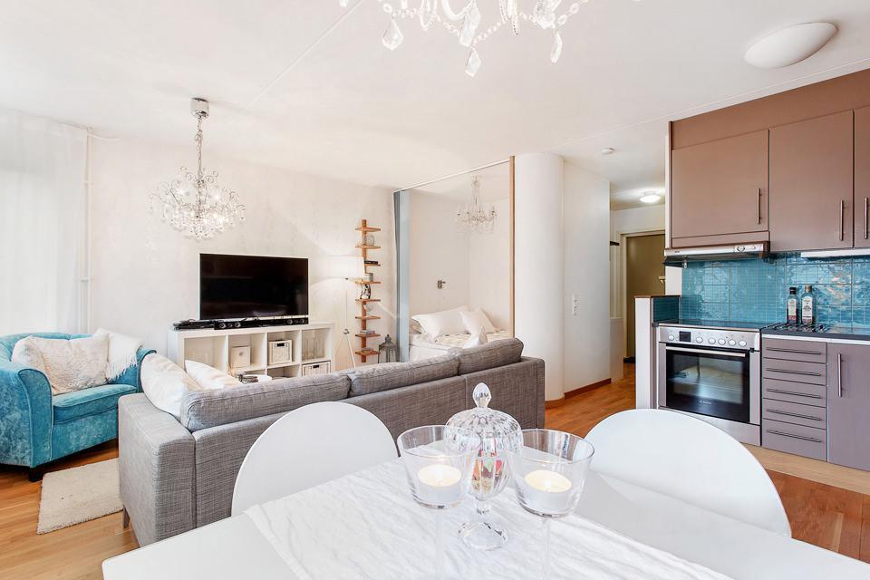 Дизайн 1 комнатной квартиры 38 кв.м