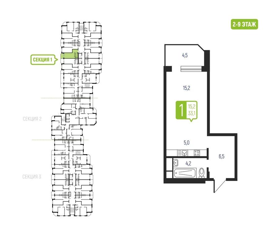 1-комнатная квартира, Ильинское-Усово, Проезд Александра Невского, 1