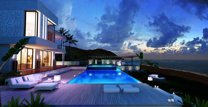 Дом в остров Сани на берегу моря не дорого