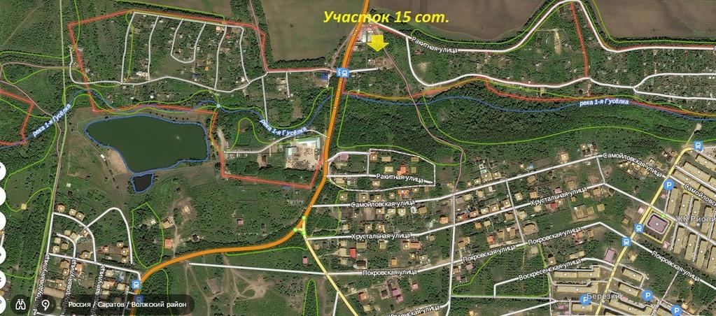 Земельный участок 13 соток в саратове, (1 550 000 р),br волжский, ул бр