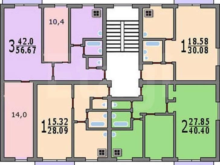 Продажа 2-комнатной квартиры, орел, латышских стрелков, 107.