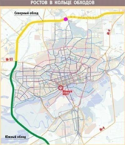 социальной схема объездной дороги на южном подъезде к ростову минского