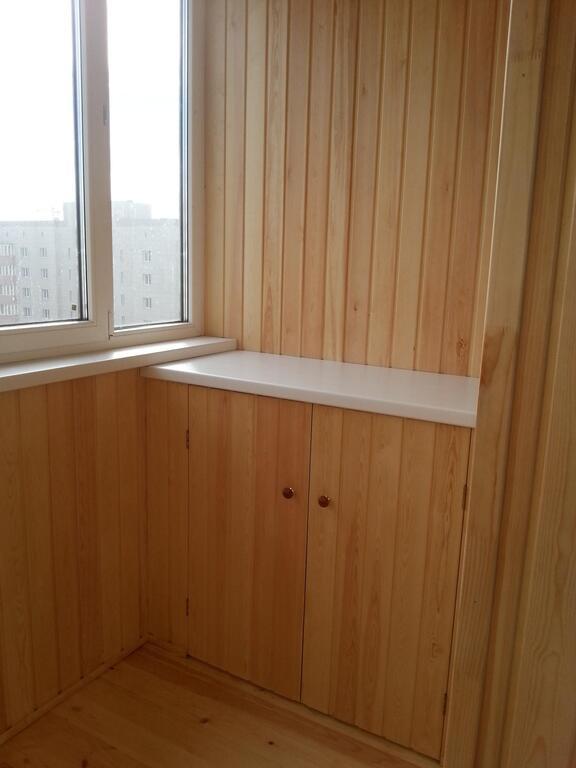 Отделка балконов и лоджий вагонкой. в курске - строительство.