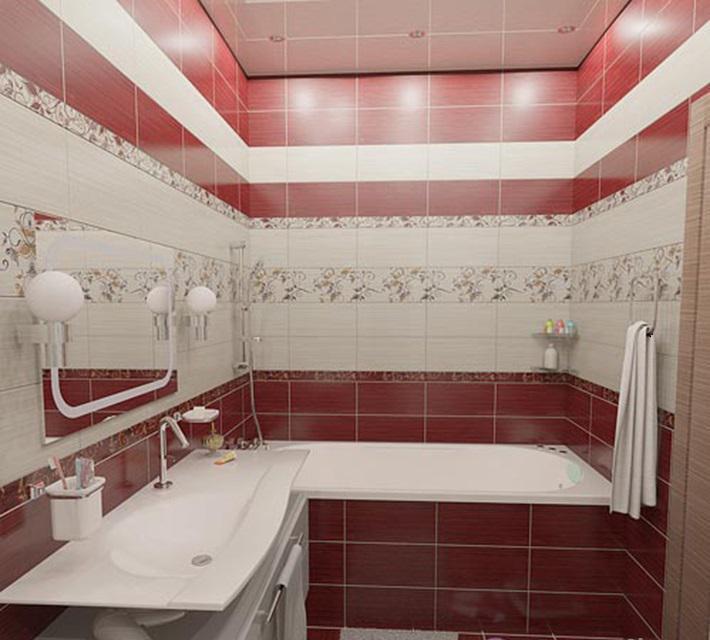 дизайн плитки в ванной комнате фото в современном стиле эконом