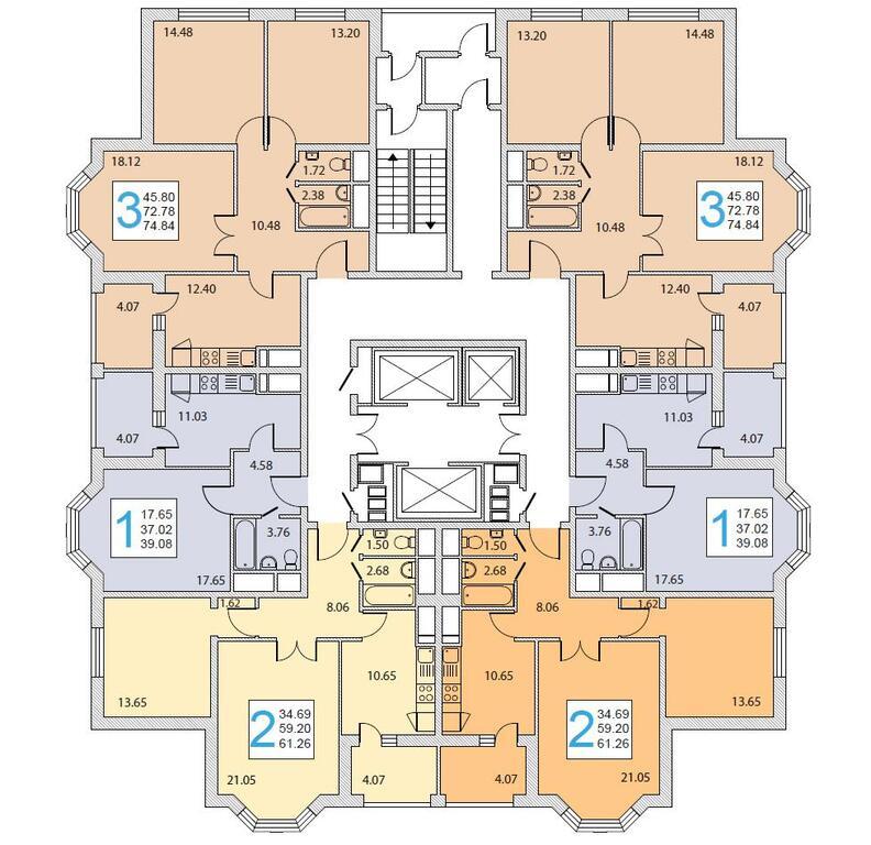 1-комнатная квартира в г. домодедово.
