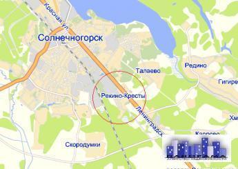 Купить земельный участок: д Рекино-Кресты, обл Московская