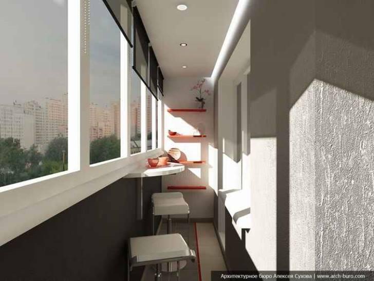 Интерьер балконов из панелей.