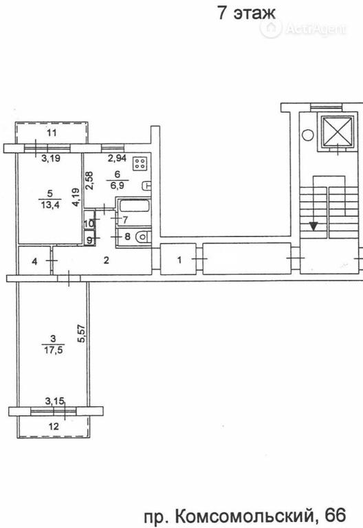 Объявление 18454028 - продажа двухкомнатной квартиры в новос.
