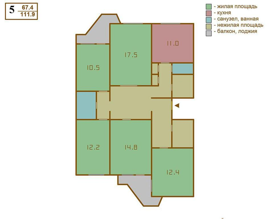 5-комнатная квартира г. москва, проезд Черепановых, дом 36 к.