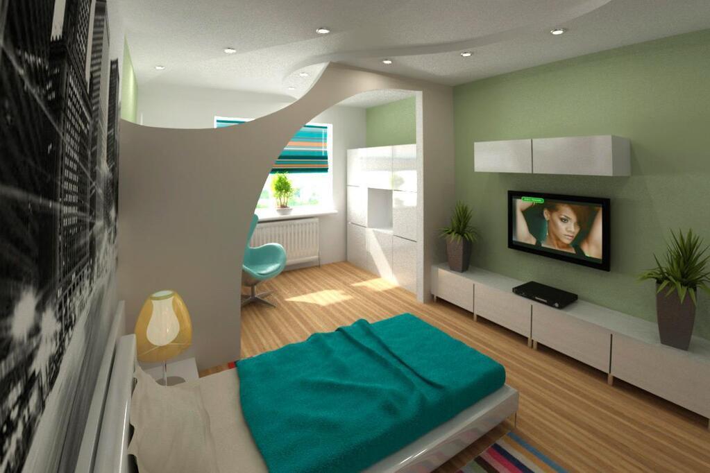 Дизайн квартиры 30 кв.м фото разделить зоны