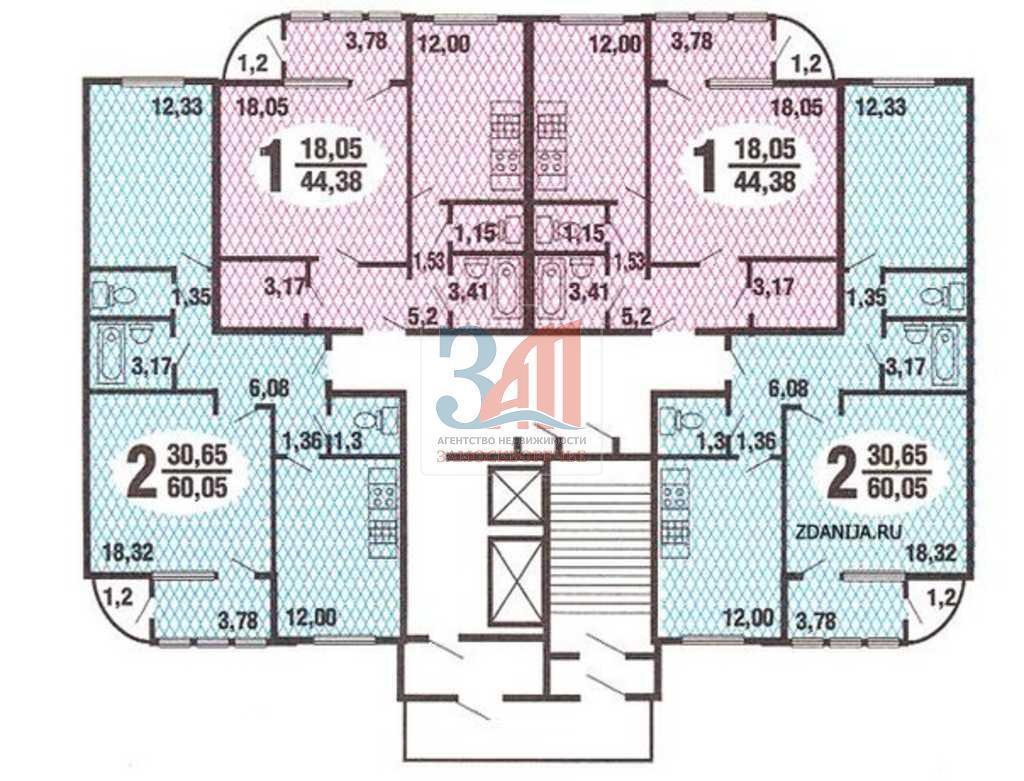 Типовые планировки квартир в жилых домах серии п 111 - п-111.