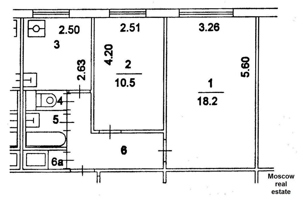 Поэтажный план домов серии 1605ам/9