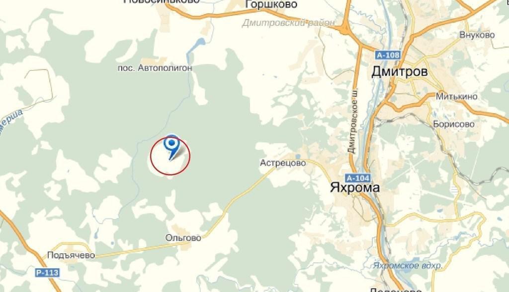 карта для того рыбалки на дмитровском районе