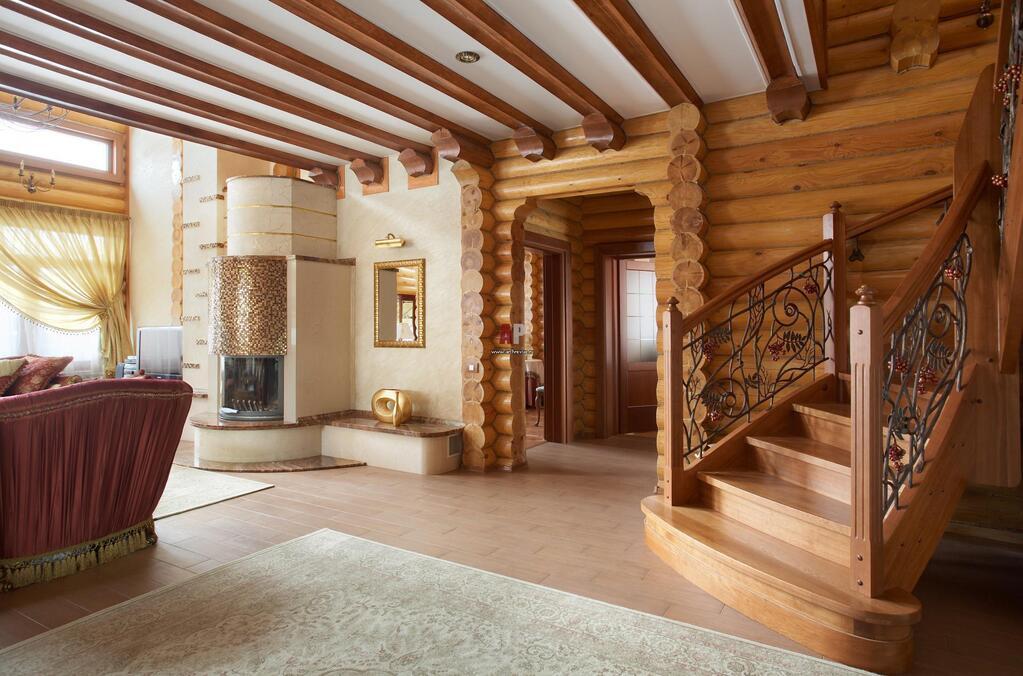 Фото дизайн деревянного дома из бревна