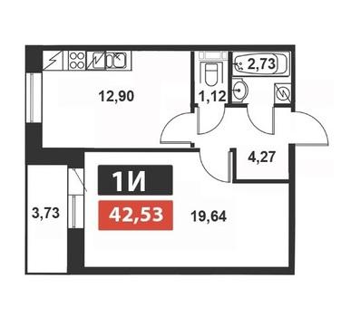 Продам: 1 комн. квартира, 44 м2, м.Выборгская - Фото 2