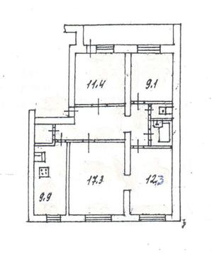 Обменяю 4-комн.квартиру, Губкина ул 55, 1/5, площадь: общая 79.00 .