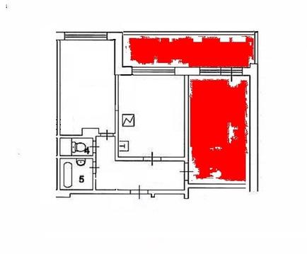Продам комнату в г. Серпухов, Московское шоссе, д. 43. - Фото 5