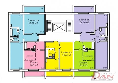 870 000 Руб., Копейск, Купить квартиру в новостройке от застройщика в Копейске, ID объекта - 315273132 - Фото 1