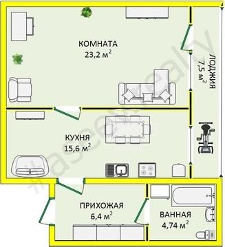 2 600 000 Руб., Просторная современная квартира в самом центре города, Купить квартиру в Ставрополе по недорогой цене, ID объекта - 317800732 - Фото 1
