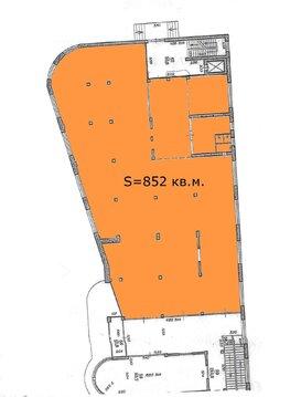 852 кв.м. - торговое помещение на 1-м этаже с отдельным входом. - Фото 3