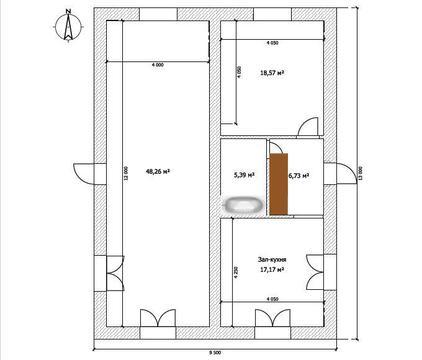Дом 100 м2 на участке 3,2 сот. пос. Западный-2 - Фото 2
