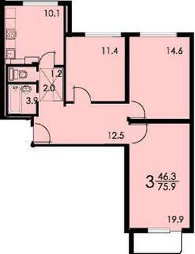 3-х комнатная квартира на Речном - Фото 2