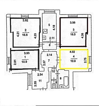 Продам комнату 10.9 кв.м, м.Арбатская - Фото 4