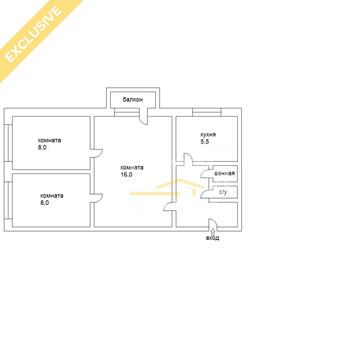 Малышева 150 Двухкомнатная Квартира! Отличная ! - Фото 1
