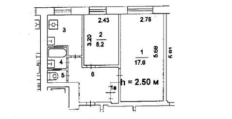 2-комнатная квартиру м. Рязанский проспект, Рязанский пр-т, д. 60. - Фото 2