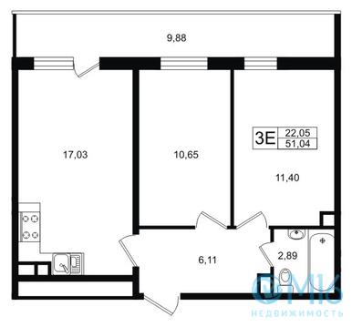 Продажа 2-комнатной квартиры, 51.04 м2 - Фото 1