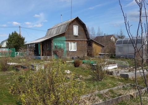 Садовый дом, участок 10 соток, Матокса, СНТ Спутник - Фото 1