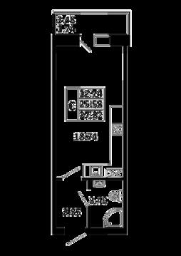 Квартира-студия 27,32 кв. м. в ЖК Никольский посад