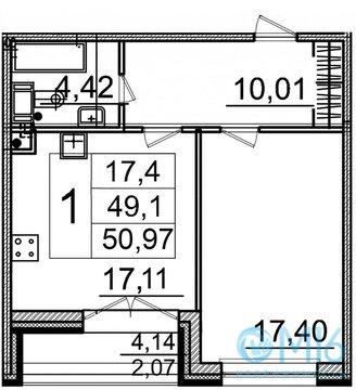 Продажа 1-комнатной квартиры в Московском районе, 50,97 м2 - Фото 2