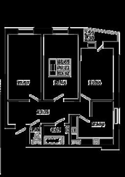 3-комнатная квартира 80,52 кв. м. в ЖК Никольский посад