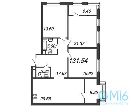 Продажа 3-комнатной квартиры, 131.54 м2 - Фото 1