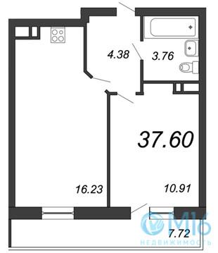 Продажа 1-комнатной квартиры, 37.6 м2 - Фото 2