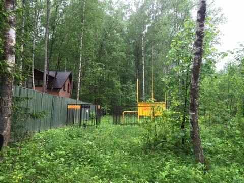 Участок, 12,5 соток с лесом, ИЖС, д. Панино Чеховский район - Фото 2