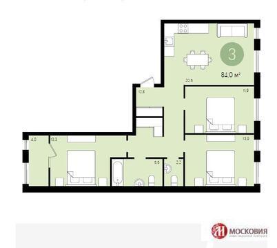 Продажа 3-х комнатной квартиры в г. Видное - Фото 2