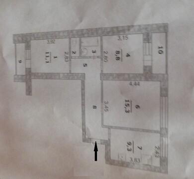 3-х комнатная в районе поликиники увд - Фото 2