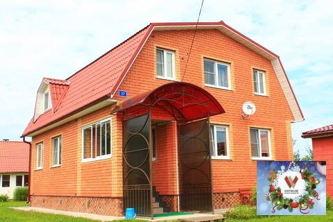 Жилой дом-есть все+баня, гараж, 25 соток в деревне - Фото 1