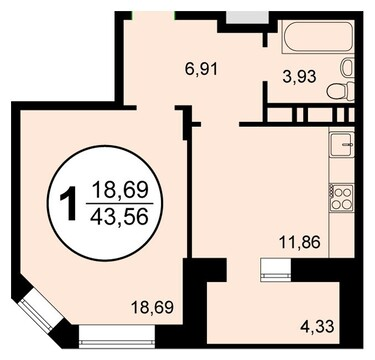 Продается 1 комнатная квартира, Купить квартиру в новостройке от застройщика в Железнодорожном, ID объекта - 320319784 - Фото 1