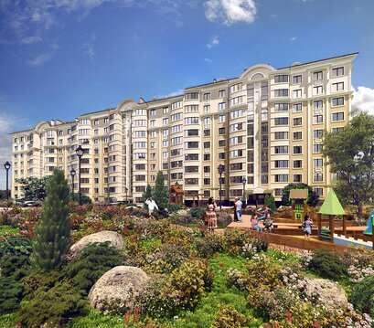 Продажа квартиры, Симферополь, Ул. Битакская, Купить квартиру в новостройке от застройщика в Симферополе, ID объекта - 315970557 - Фото 1