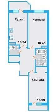 Продается 2 кв 76,9 кв на 19/25. ЖК Менделев Химки - Фото 5