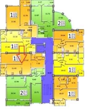 Крупногабаритная 1 к/квартира 54 м2 Острякова прт - Фото 3