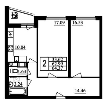 2-комн.квартира на Маршала Блюхера ЖК Фламинго - Фото 1