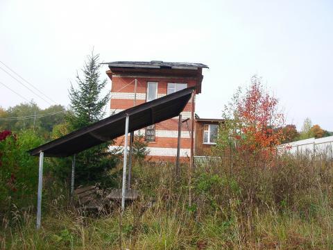 Недостроенный 3-х уровневый кирпичный дом 6х6 м. на участке под ИЖС. - Фото 4