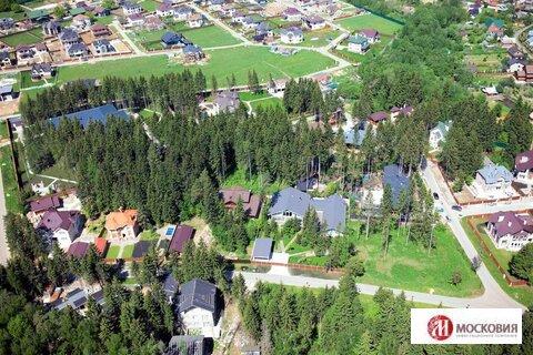Прилесной участок 16 соток в коттеджном поселке, 33 км по Киевскому ш. - Фото 1